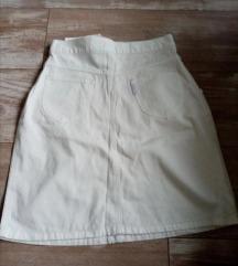 Komplet teksas duboka suknja i prsluk