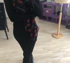 MANGO crna duga haljina