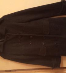 Debela postavljena crna jakna,38