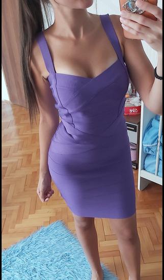 Ljubicasta Herve Leger haljina