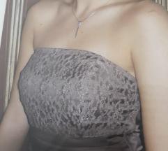 Svecana top haljina boje vina - NOVO!