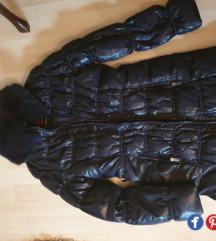 Teget jakna sa prirodnim krznom