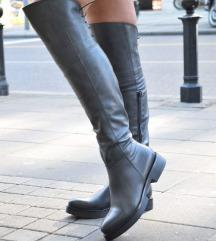 Nove crne kozne italijanske cizme 40 41