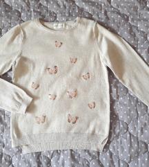 H&M bež džemper nov