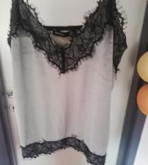♥️ Bershka ♥️ siva majica na bretele
