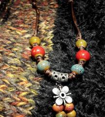 Podesiva boho ogrlica i narukvice