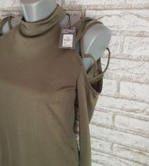 NOVA Maslinasta majica sa etiketom(gola ramena)