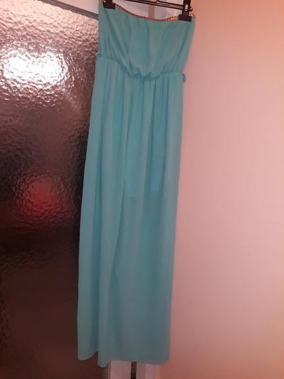 Duga haljina za letnje dane, univerzalna.SNIZENA!