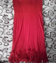 Crvena too haljina sa resama
