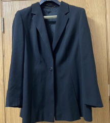 Crni sako blago strukiran