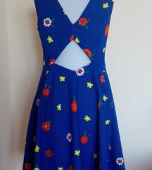 Cvetna plava haljina
