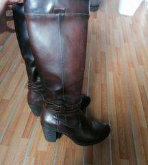Duboke braon cizme br. 38