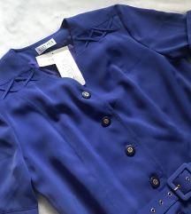 Kraljevsko plava midi haljina NOVO