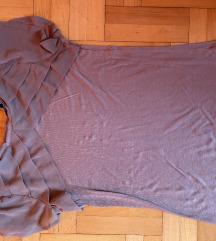 Braon majica sa karnerima od muslina