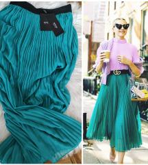 SNIZENO!Fantastična maxy plisirana suknja,NOVA!