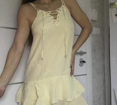 Letnja haljina svilena zuta