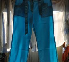 Tirkiz tanke letnje pamučne pantalone xxl 44 NOVO