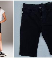 H&M crni teksas šorts/dubok struk