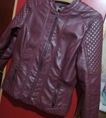 Bordo kožna jakna