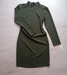 Nova maslinasta haljina sa etiketom 500DIN