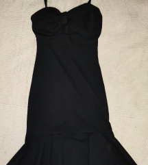 CRNI PETAK Crna haljina sa mašnom