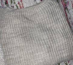 Krem duži džemper
