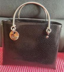 Mona crna torba sa metalnim ruckama