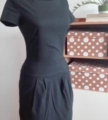 Crna haljina na tufnice 36