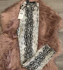 Zara snake print pantalone , 36 velicina , Nove