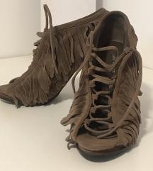 ZARA braon sandale sa resama - broj 39