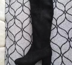 Crne cizme preko kolena 37