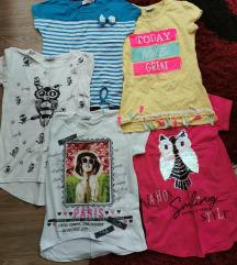 Dečije majice kratkih rukava za devojčice
