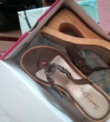 SKECHERS čokoladno braon papuče