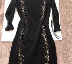 CALVIN KLEIN crna elegantna haljina sa cirkonima S