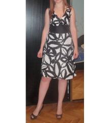 370. Esprit svecana haljina crno bela, NOVA