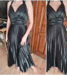 Crna plise haljina S/M