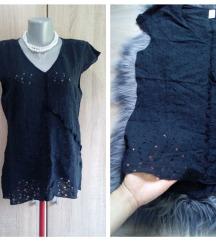 Crna rupicasta bluza