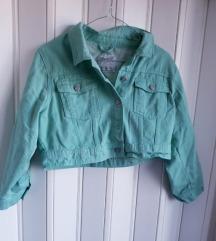 Svetlo zelena teksas jakna