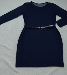 NOVA teget haljina sa etiketom i kaisem