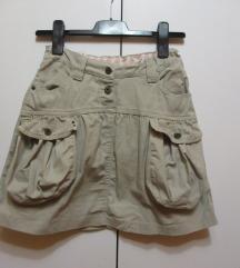 Safari suknja sa džepovima
