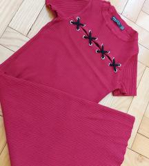 Trikotazna haljina + kozna torbica na poklon