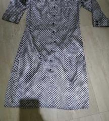 svilena haljina na raskopcavanje