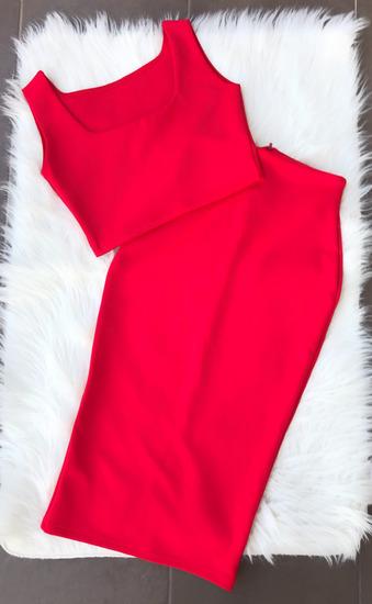 Miuu Miuu Fashion skuba crveni set XS/S/M vel