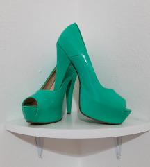 Tirkizne cipele na paltformu