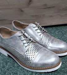 Srebrne oksford cipele