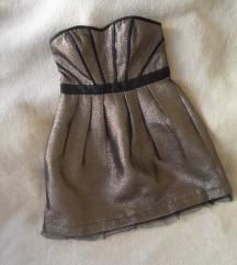 NAFNAF svetlucava korset haljina sa tilom, M/L