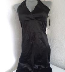 Italijanska crna haljina bez ledja S