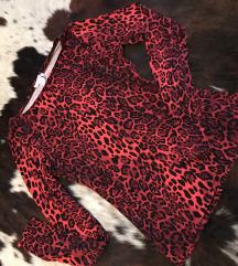 leopard slim majica