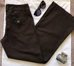 CACHE CACHE braon lanene pantalone 38 ili M