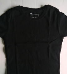 Crna rebrasta majica NOVO, RASPRODAJA